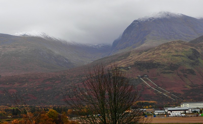 View of Ben Nevis from Neptune Staircase