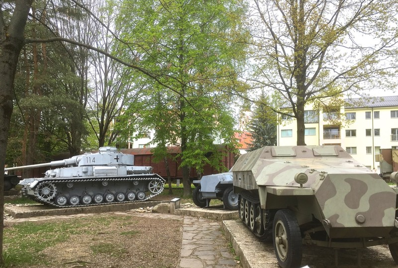 Tanks captured from German forces during WW2 in Banská Bystrica