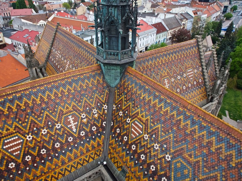 Roof of the St Elizabeth Cathedral in Košice