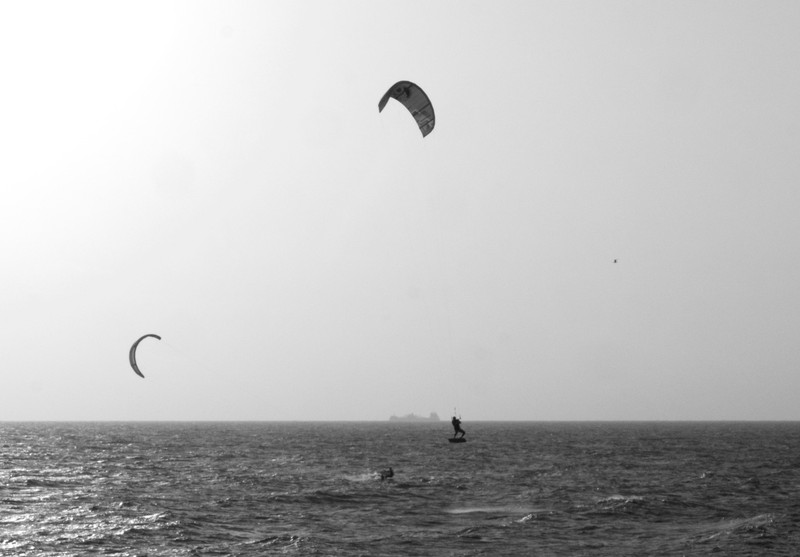 Kite surfing in Cartagena Bay