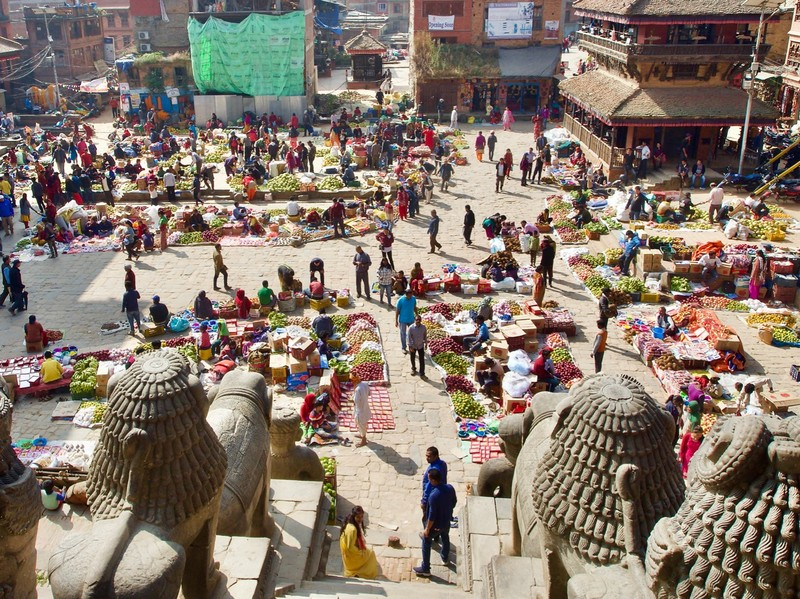 Bhaktapur Nyatapola temple a 5 story pagoda