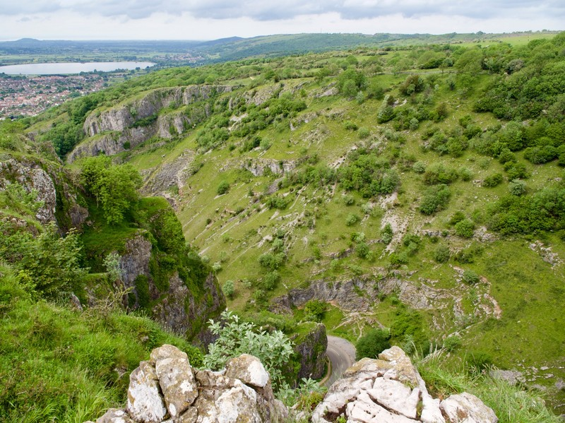 Cheddar Gorge panoramic view