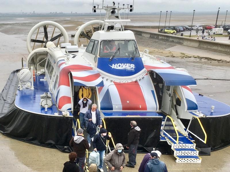 The Isle of Whight passengers hovercraft
