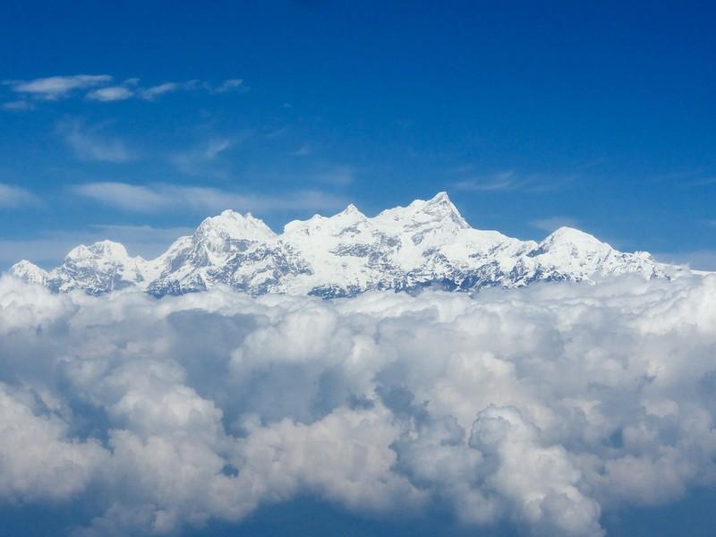 Flying from Kathmandu to Pokhara