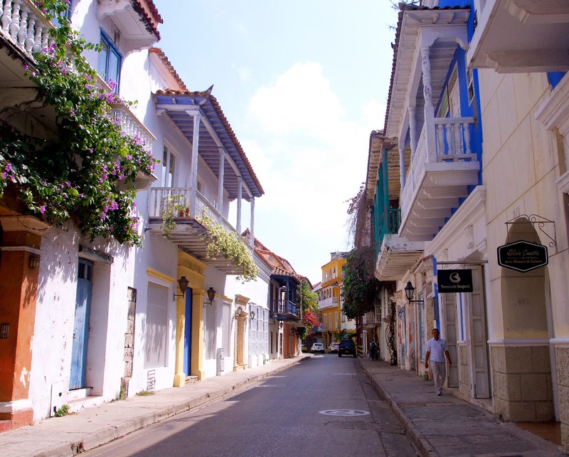 Street in the Old Town of Cartagena