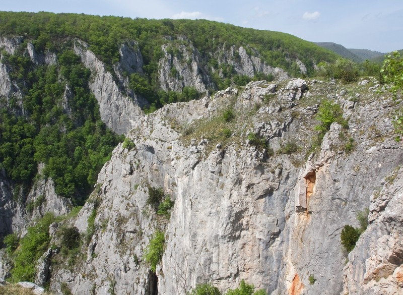 Looking down into Zádielska gorge