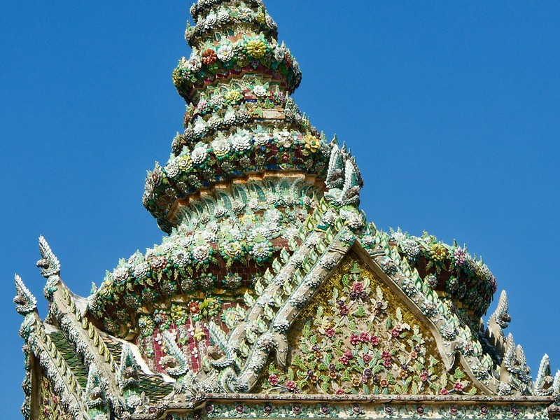 Detail of a roof in Grand Palace