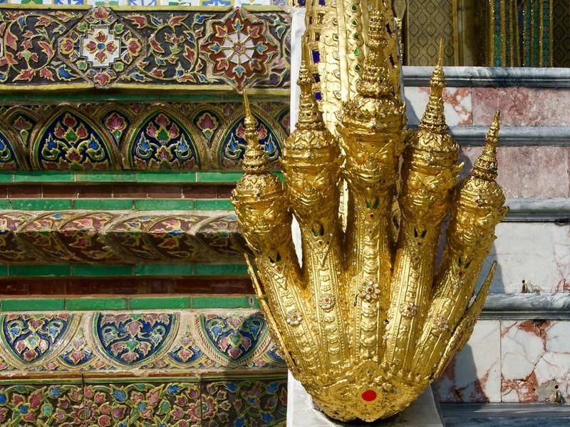 Cobra heads, protector of Buddha