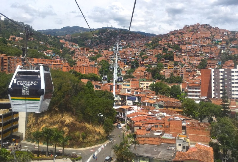Metrocable Line J from St Javier to Aurora, Medellin