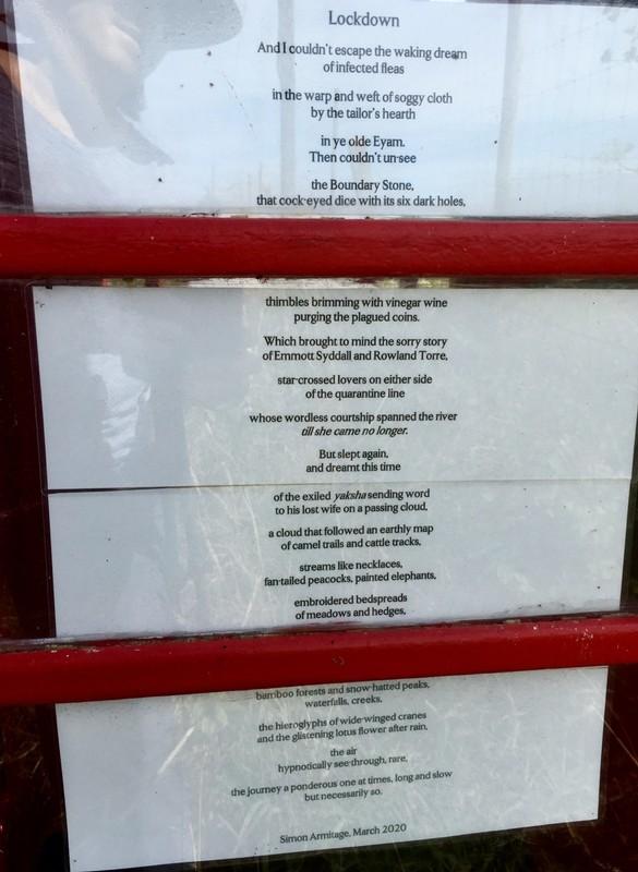 Lockdown Poem in an old telephone box