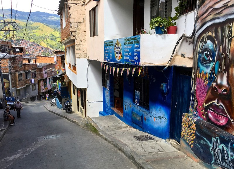 Steep street of Comuna 13