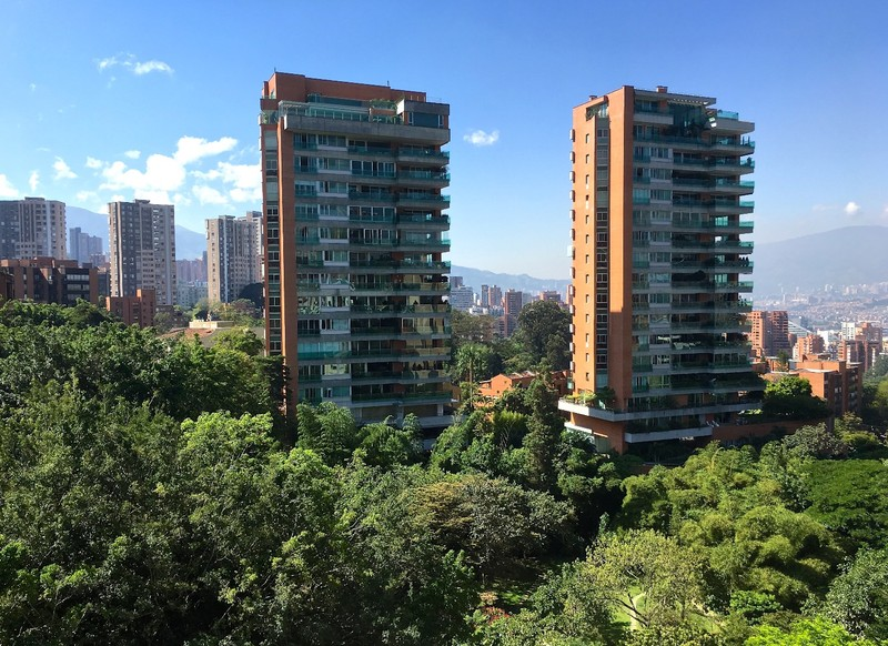View of El Poblado, our 2nd apartment in Medellin