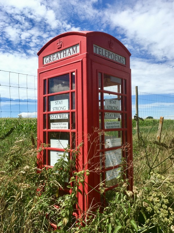 Old telephone Box now a Telepoem box