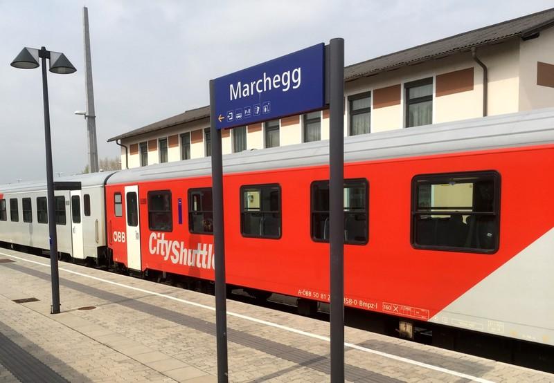 Train from Vienna, Austria to Bratislava, Slovakia