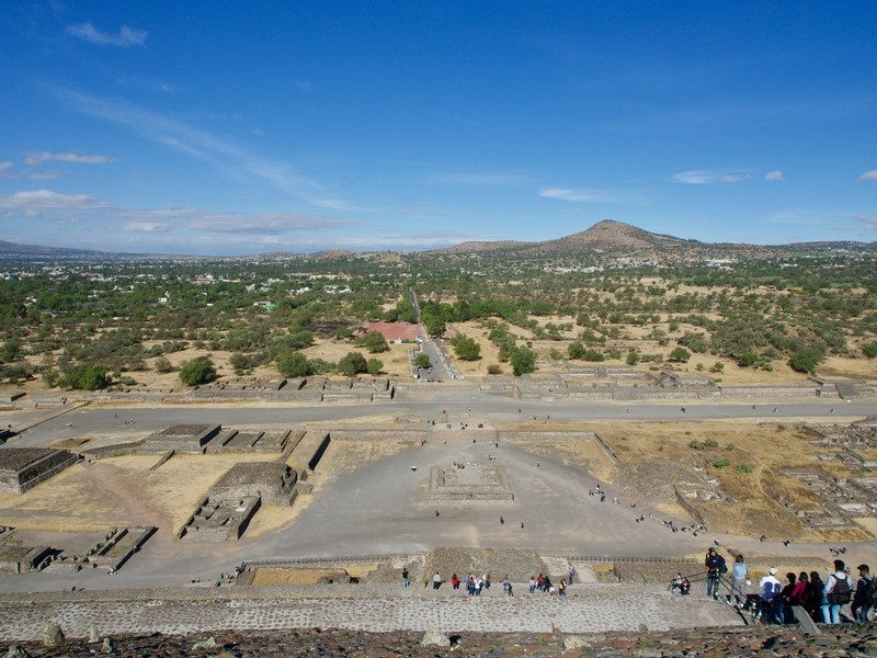 View from the top of Pyramid of the Sun