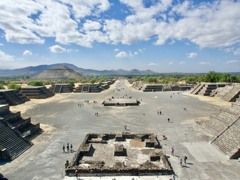 View over the ancient mesoamerican city of Teotihuacán