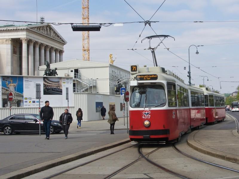 Old fashion tram in Vienna