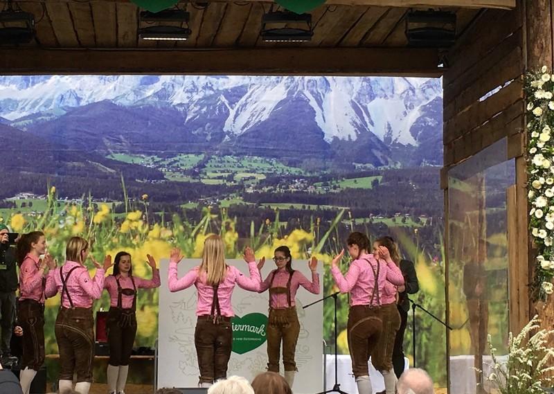 Folk dancing in Vienna