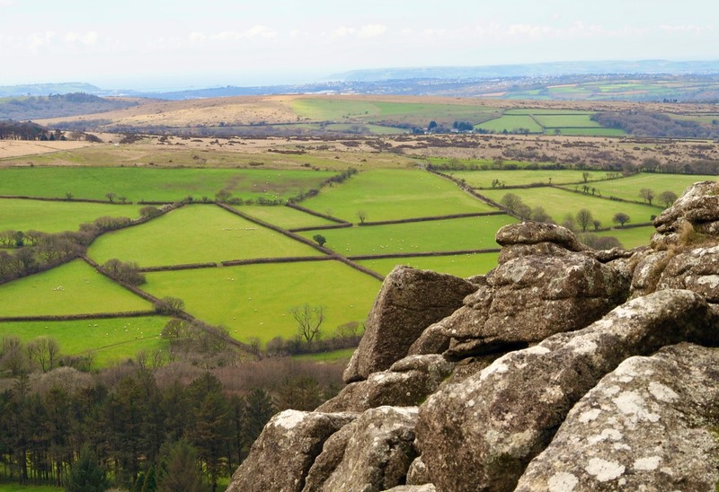 View from Sheep Tor in Dartmoor NP