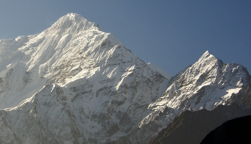 View from our bedroom window early morning Jomsom
