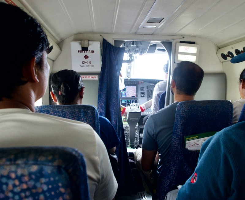 Inside the twin otter
