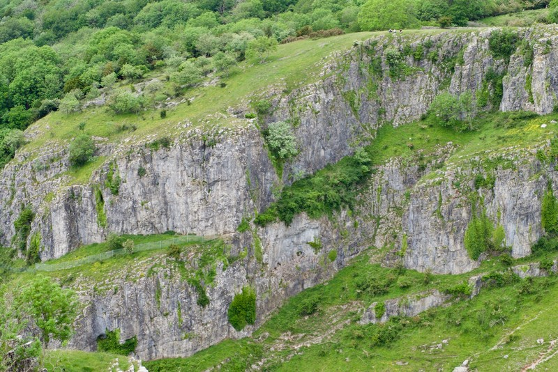 Start of the Cheddar Gorge walk was quit steep as you can see on the photo