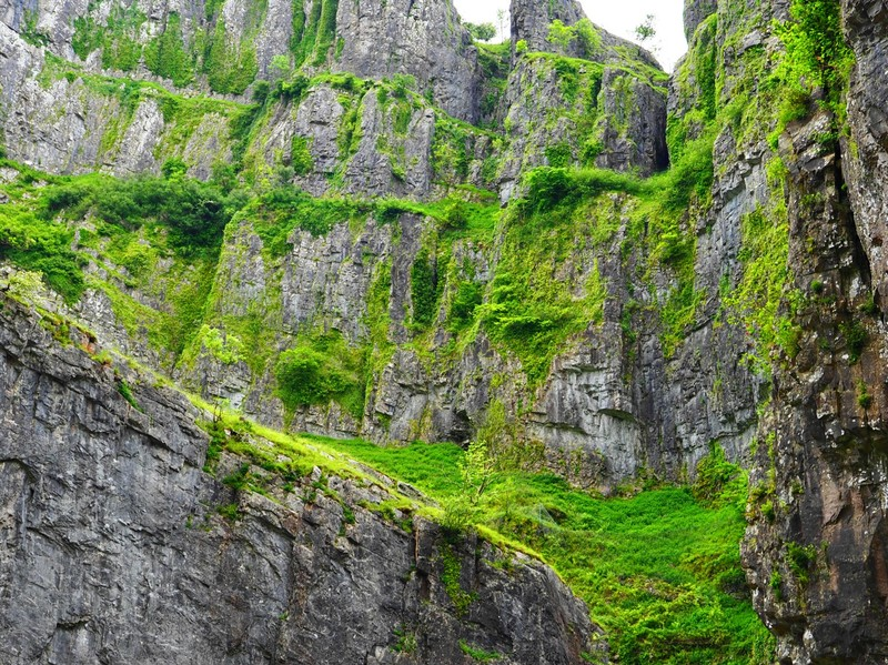 Cheddar gorge view from the road