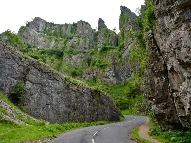 Road through the Cheddar Gorge