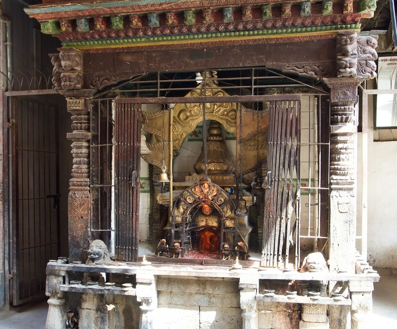 One of many street little temple in Patan