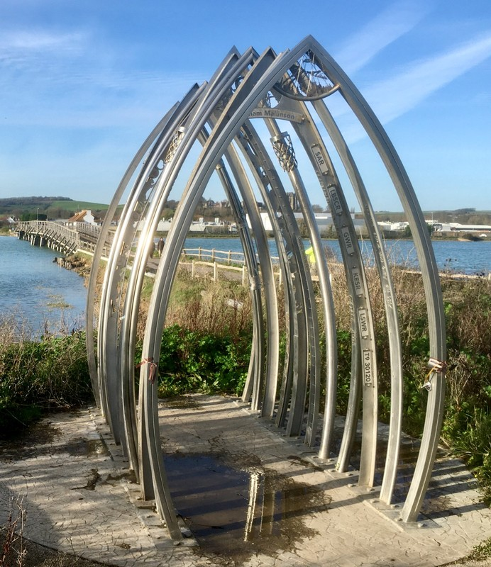 Shoreham aircrash memorial: Eleven distinctive steel arches - each uniquely commemorating the men who died when a Hawker Hunter jet crashed on to the A27 during an air display at Shoreham Airport in August 2015