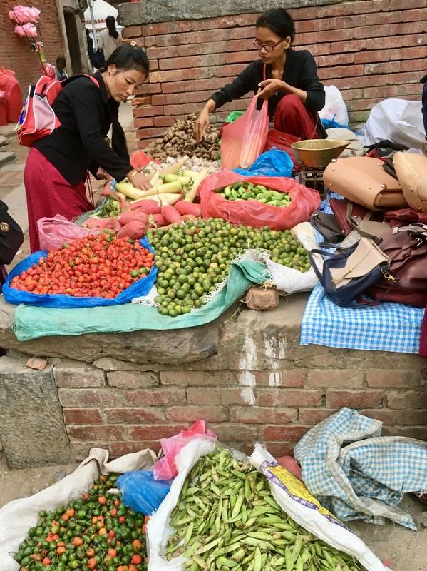 Vegetable street trader