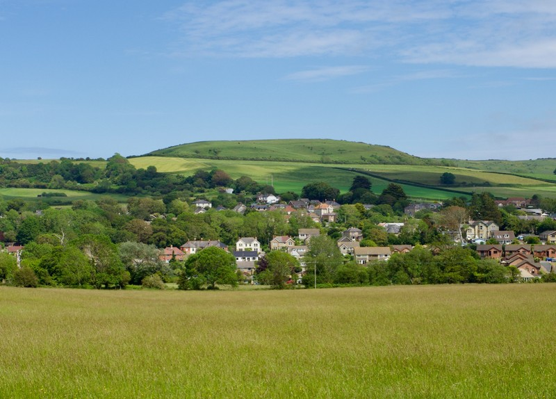 Rolling hills of the Isle of Wight