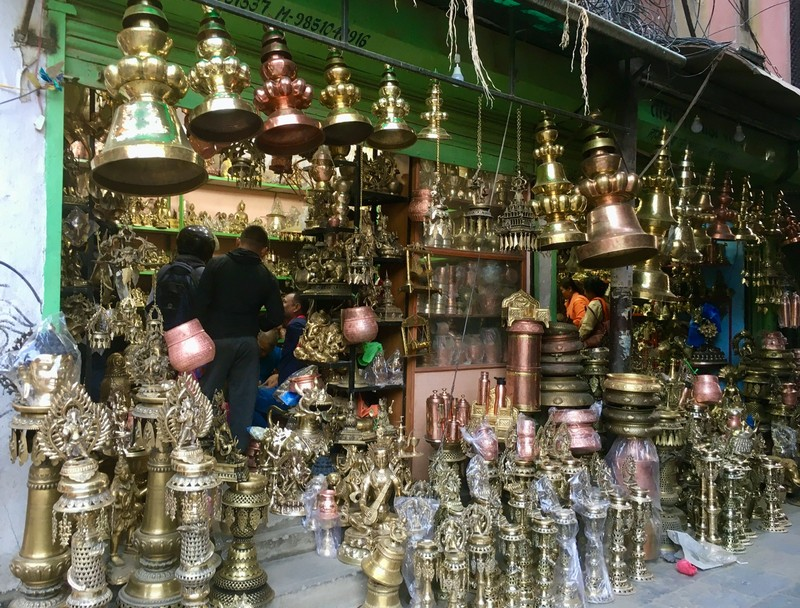 Patan is renowned for its metal craftsmanship