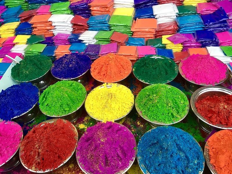 Coloured powder ready for Diwali festival