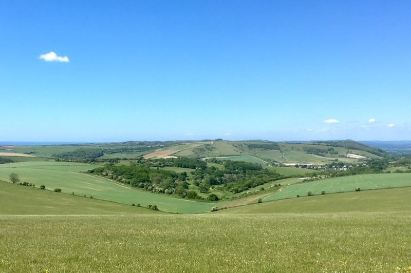 Views across the South Downs NP, in the background is Brighton & Hove