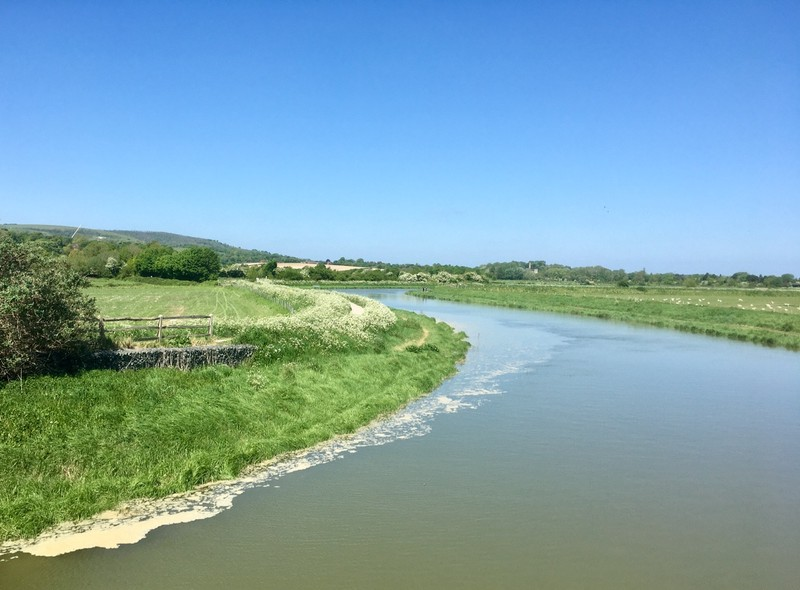 Different location for our walk, along the River Adur