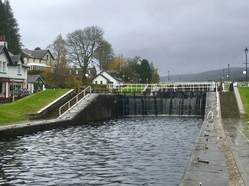 Fort Augustus Lock on the Caledonian Canal