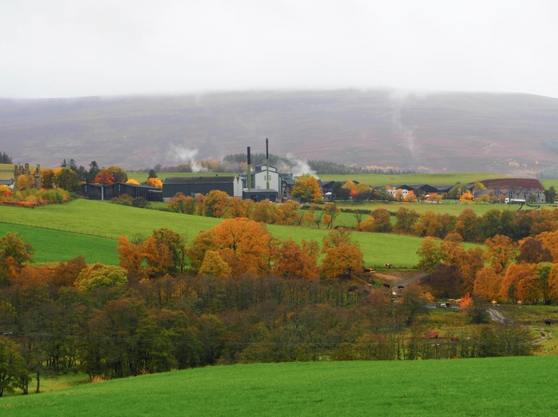 View of Glenlivet distillery