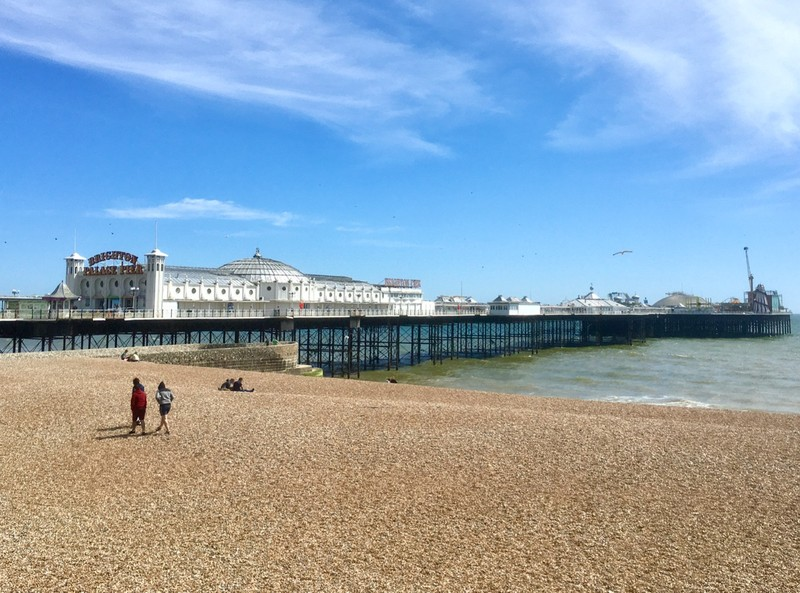 Brighton Pier, closed due to Covid-19