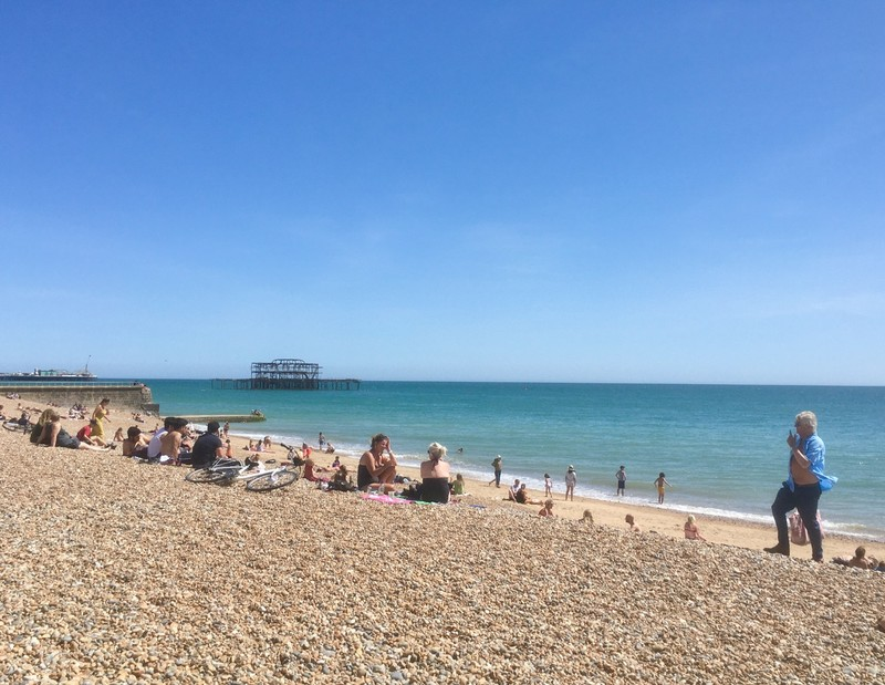 Lockdown easing, Brighton & Hove beach very popular