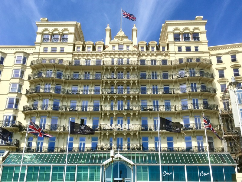 The Grand Hotel, where the UK Prime Minister have stayed and famous for the Brighton Bombing in 1984