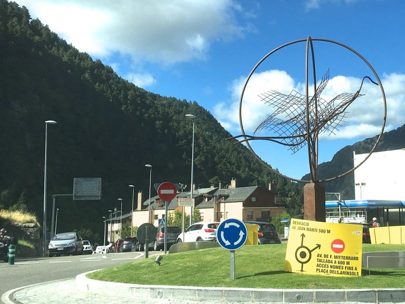 Another lovely sculpture on a roundabout