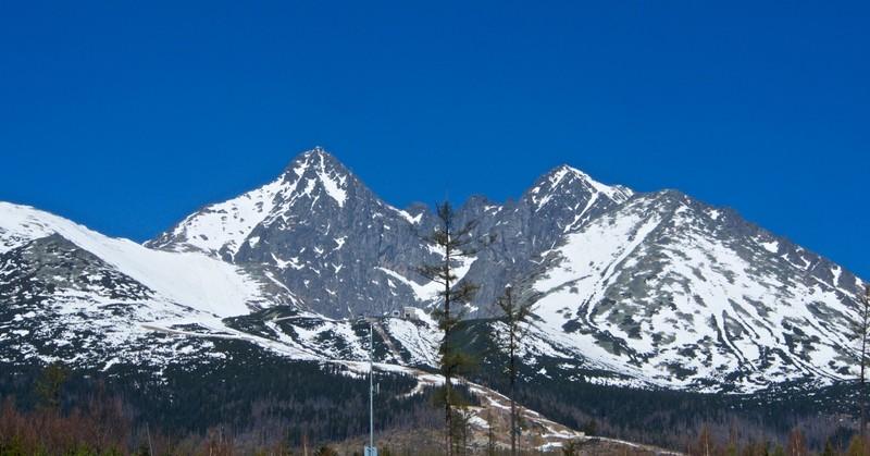 View of the High Tatras from Tatranská Lomnica (850m)