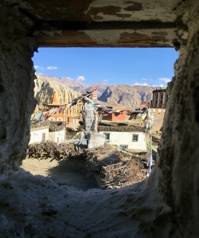 View from the loo in Charang