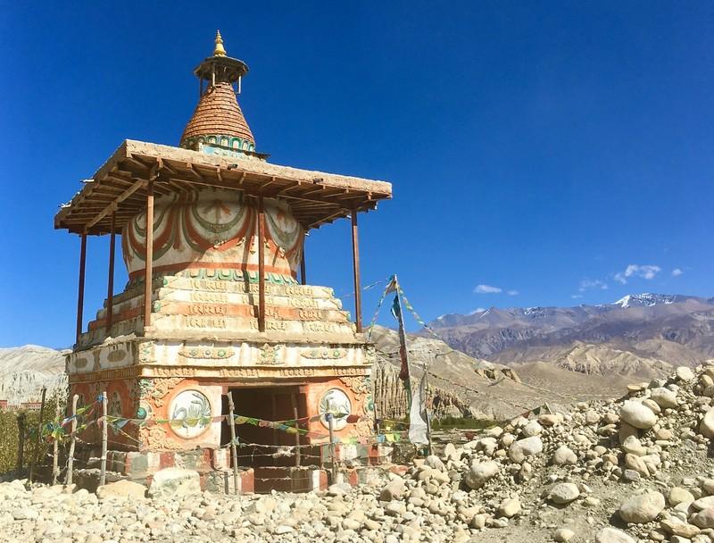Isolated shorten or stupa