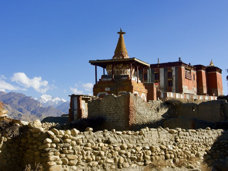 The monastery in Charang