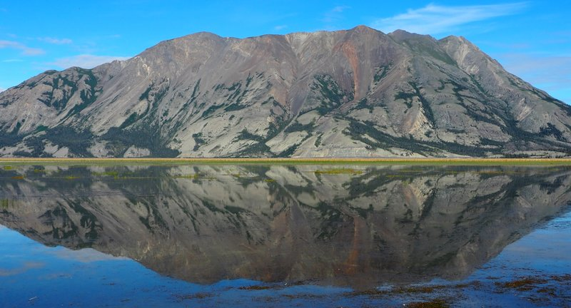 Mirror image on Kluane Lake