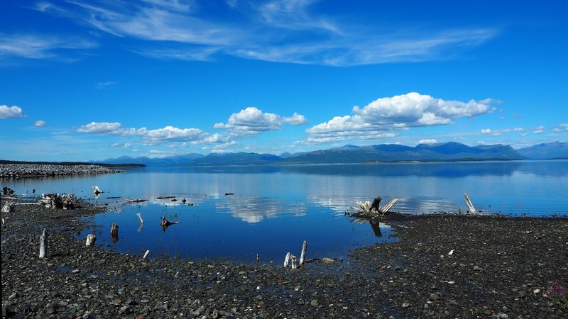 Kluane Lake at Destruction Bay