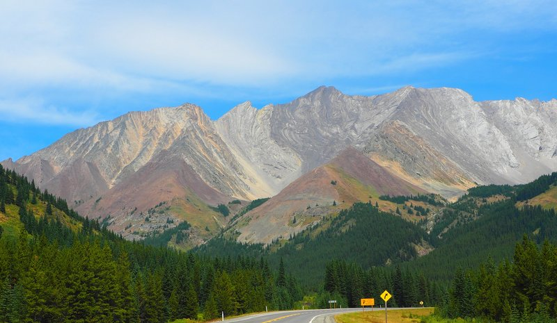 Views of the Kananaskis from Highway