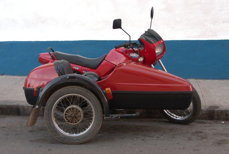 Cuba still use Motorbike & Sidecar a lot